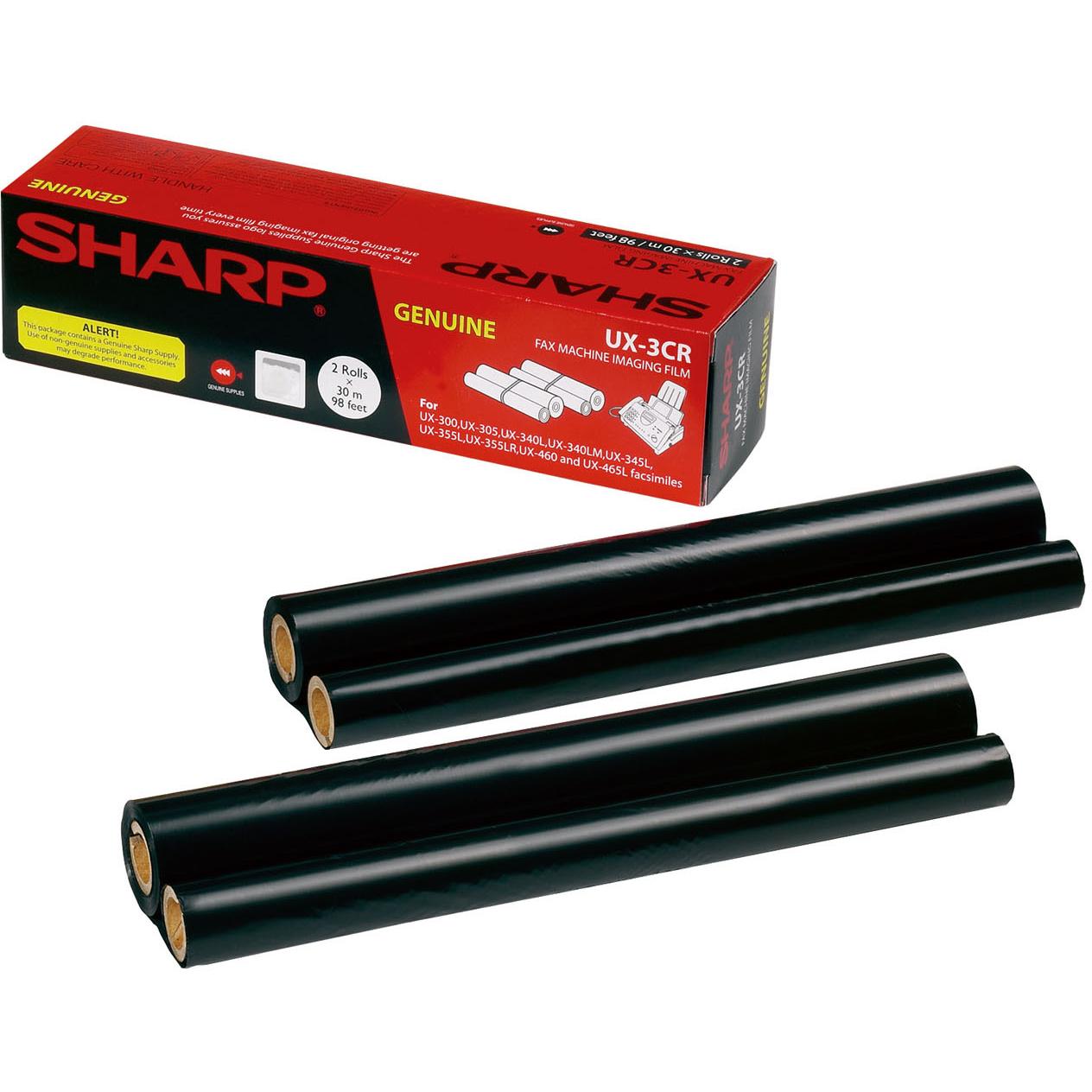 Original Sharp UX3CR Black Twin Pack Ink Film Thermal Ribbons (UX3CR)