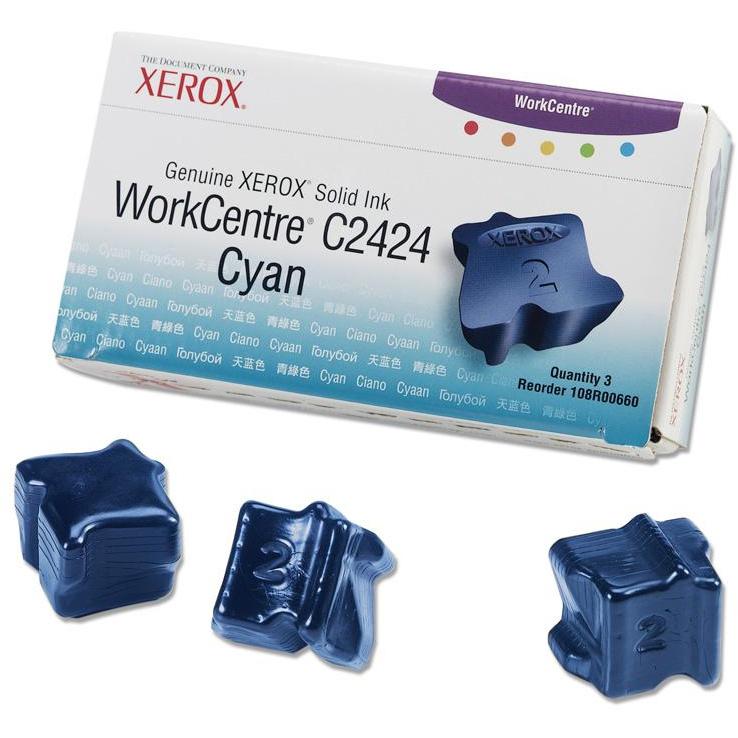 Original Xerox 108R00660 Cyan Triple Pack Solid Ink (108R00660)