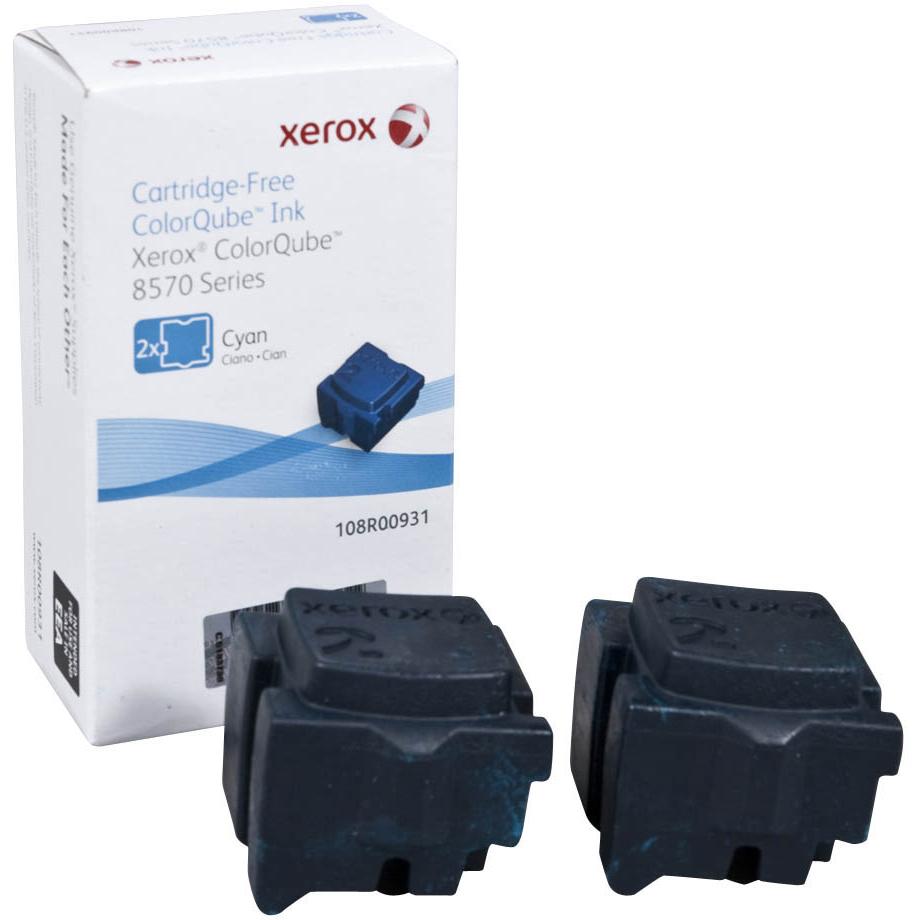 Original Xerox 108R00931 Cyan Twin Pack Solid Ink (108R00931)