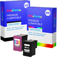 Premium Compatible HP 901XL / 901 Black & Colour Combo Pack Ink Cartridges (SD519AE)