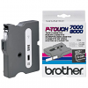 Original Brother TX-335 White On Black 12mm x 15m P-Touch Label Tape (TX335)