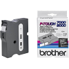 Original Brother TX-355 White On Black 24mm x 15m P-Touch Label Tape (TX355)