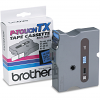 Original Brother TX-551 Black On Blue 24mm x 15m Laminated P-Touch Label Tape (TX551)