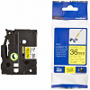 Original Brother TZeFX661 Black On Yellow 36mm x 8m Flexi ID P-Touch Label Tape (TZE-FX661)