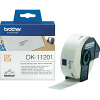 Original Brother DK-11201 Black On White 29mm x 90mm Standard Address Label Roll Tape - 400 Labels (DK11201)