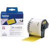 Original Brother DK-44605 Black On Yellow 62mm x 30.48m Removable Adhesive Continuous Paper Label Tape (DK44605)