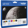 Original Brother LC1000 CMYK Multipack Ink Cartridges (LC1000VALBP)