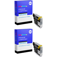 Compatible Brother LC1100 Black Twin Pack Ink Cartridges (LC1100BK)
