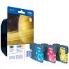 Original Brother LC1100 Cyan Magenta Yellow Pack Ink Cartridges (LC1100RBWBP)