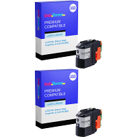 Premium Compatible Brother LC227XL Black Twin Pack High Capacity Ink Cartridges (LC227XLBK)
