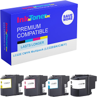 Premium Compatible Brother LC22E CMYK Multipack Ink Cartridges (LC22EBK/C/M/Y)