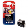 Original Brother M-K232BZ Red On White 12mm x 8m Plastic Non-Laminated Label Tape (MK232BZ)