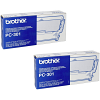 Original Brother PC-301RF Black Twin Pack Thermal Ribbons (PC301)