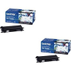 Original Brother TN-130BK Black Twin Pack Toner Cartridges (TN130BK)