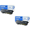 Original Brother TN-6600 Black Twin Pack High Capacity Toner Cartridges (TN6600)