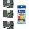 Original Brother TZe31M3 12mm x 8m Multipack Laminated P-Touch Label Tapes (TZE-231, TZE-431, TZE-631, TZE-31M3)