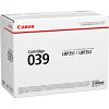 Original Canon 039 Black Toner Cartridge (0287C001)