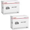 Original Canon 039 Black Twin Pack Toner Cartridges (0287C001)