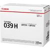 Original Canon 039H Black High Capacity Toner Cartridge (0288C001)