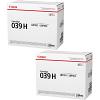 Original Canon 039H Black Twin Pack High Capacity Toner Cartridges (0288C001)