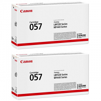 Original Canon 057 Black Twin Pack Toner Cartridges (3009C002)
