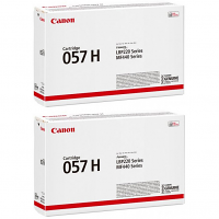 Original Canon 057H Black Twin Pack High Capacity Toner Cartridges (3010C002)