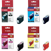 Original Canon BCI-3E CMYK Multipack Ink Cartridges (4479A002 / 4480A002 / 4481A002 / 4482A002)
