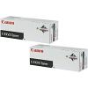 Original Canon C-EXV3 Black Twin Pack Toner Cartridges (6647A002AB)