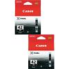 Original Canon CLI-42BK Black Twin Pack Ink Cartridges (6384B001)