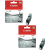 Original Canon CLI-521BK Black Twin Pack Ink Cartridges (2933B001)