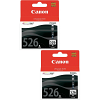 Original Canon CLI-526BK Black Twin Pack Ink Cartridges (4540B001)