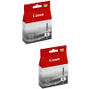 Original Canon CLI-8BK Black Twin Pack Ink Cartridges (0620B001)