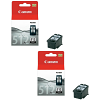 Original Canon PG-512 Black Twin Pack High Capacity Ink Cartridges (2969B001)