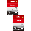 Original Canon PGI-7BK Black Twin Pack Ink Cartridges (2444B001)