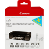 Original Canon PGI-29 MBK, PBK, DGY, GY, LGY, CO Multipack Ink Cartridges (4868B018)