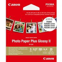 Original Canon PP-201 265gsm 89mm x 89mm Glossy II Photo Paper - 20 sheets (2311B070)
