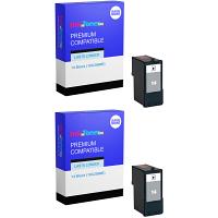 Premium Remanufactured Lexmark 14 Black Twin Pack Ink Cartridges (18C2090E)