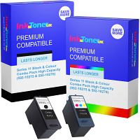 Premium Remanufactured Dell Series 11 Black & Colour Combo Pack High Capacity Ink Cartridges (592-10275 & 592-10276)