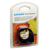 Original Dymo 18769 Black On White 12mm x 2m Iron-On LetraTag Label Tape (S0718850)