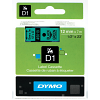 Original Dymo 45019 Black On Green 12mm x 7m D1 Label Tape (S0720590)