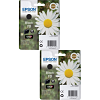 Original Epson 18 Black Twin Pack Ink Cartridges (C13T18014010)