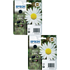 Original Epson 18XL Black Twin Pack High Capacity Ink Cartridges (C13T18114010)