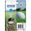 Original Epson 34 Cyan Ink Cartridge (C13T34624010)