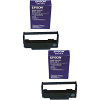Original Epson ERC-38B Black Twin Pack Fabric Ribbons