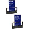 Original Epson ERC23B Black Twin Pack Fabric Ribbons