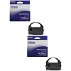 Original Epson S015054 Black Twin Pack Ribbons (C13S015054)