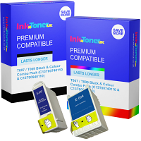 Premium Compatible Epson T007 / T009 Black & Colour Combo Pack Ink Cartridges (C13T00740110 & C13T00940110)
