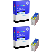 Premium Compatible Epson T013 Black Twin Pack Ink Cartridges (C13T01340110)
