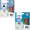 Original Epson T036 / T037 Black & Colour Combo Pack Ink Cartridges (C13T03614010 & C13T03704010)