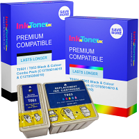 Premium Compatible Epson T0501 / T053 Black & Colour Combo Pack Ink Cartridges (C13T05014010 & C13T05304010)